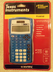 texas instrument blue calculator two-line display